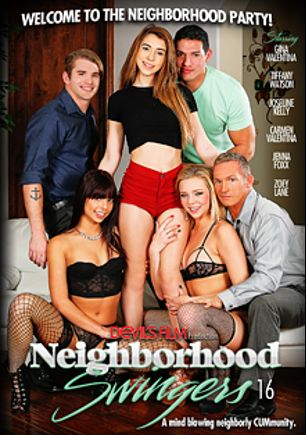Neighborhood Swingers 16, starring Gina Valentina, Zoey Lane, Jenna J Foxx, Tiffany Watson, Joseline Kelly, Ryan McLane, Carmen Valentina, Marcus London, Marco Banderas and Eric Masterson, produced by Devil's Film and Devils Film.