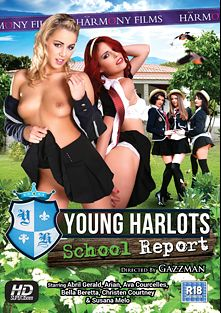 Young Harlots: School Report, starring Arian, Bella Beretta, Abril Gerald, Christen Courtney, Susana Melo and Ava Courcelles, produced by Harmony Films Ltd..