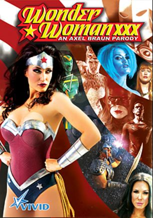 Wonder Woman XXX An Axel Braun Parody, starring Claire Robbins, Melody Jordan, Penny Pax, Ash Hollywood, Ryan Driller, Kirsten Price, Kimberly Kane, Eric Masterson and Evan Stone, produced by Vivid Entertainment.