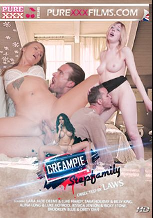 Creampie Step Family, starring Jessica Jensen, Lara Jade Deene, Alina Long, Brooklyn Blue, Tara Holiday, Ricky Stone, Luke Hardy, Luke Hot Rod, Billy King and Dirty Dan, produced by Purexxxfilms.