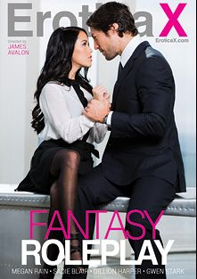 Fantasy Roleplay, starring Gwen Stark, Sadie Blair, Megan Rain and Dillion Harper, produced by Erotica X.
