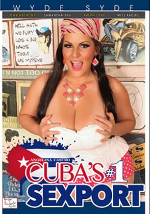 Angelina Castro Cuba's Number 1 Sexport, starring Angelina Castro, Miss Raquel, Ralph Long, Samantha 38G and John Anthony, produced by Sara Jay's Wyde Syde.