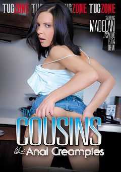 "Adult entertainment movie ""My Cousins Like Anal Creampies"" starring Henessy, Marcy B. & Abby Bynes. Produced by Tug Zone."