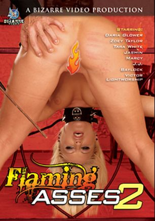 Flaming Asses 2, starring Daria Glower, Cali Sparks, Marcy (f), Jasmin, Tarra White and J.J., produced by Bizarre Video Productions.