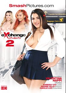 Exchange Students 2, starring Valentina Nappi, Phoebe Falls, Kimberly Chi, Camille Lixx, Anthony Rosano, Marcus London, Mark Zane and Evan Stone, produced by Smash Pictures.