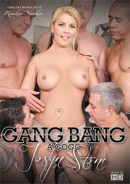 """Featured Category - Blondes presents the adult entertainment movie """"Gang Bang A Go Go: Joslyn Stone""""."""