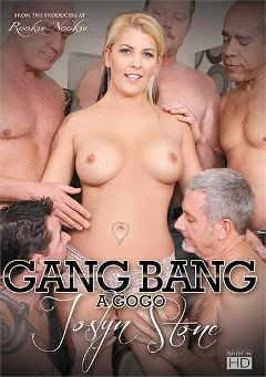 "Adult entertainment movie ""Gang Bang A Go Go: Joslyn Stone"" starring Joclyn Stone & Jay Crew. Produced by Rookie Nookie."