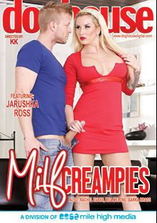 Milf Creampies, starring Jarushka Ross, Mea Melone, Barra Brass, Rachel Evans and Denis Reed, produced by Doghouse Digital and Mile High Media.