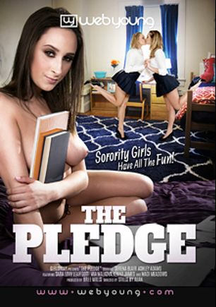 The Pledge, starring Serena Blair, Ashley Adams, Leah Gotti, Madi Meadows, Kenna James, Sara Luvv and Mia Malkova, produced by Web Young and Girlsway.