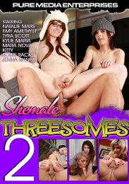 """Just Added presents the adult entertainment movie """"Shemale Threesomes 2""""."""