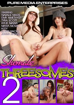 "Adult entertainment movie ""Shemale Threesomes 2"" starring Natalie Mars, Emy Amethyst & Jenna Ranee. Produced by CX WOW Production."