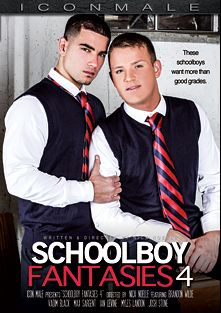 Schoolboy Fantasies 4, starring Vadim Black, Brandon Wilde, Myles Landon, Max Sargent, Ian Levine and Josh Stone, produced by Iconmale and Mile High Media.