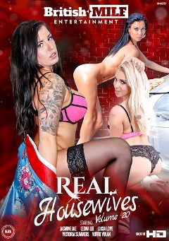 "Adult entertainment movie ""Real Housewives 20"" starring Lucia Love, Jasmine Jae & Leona Lee. Produced by British MILF Entertainment."