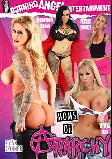 Moms Of Anarchy, starring Jenevieve Hexxx, Lolly Ink, Sarah Jessie, Ryan Conner, Adriana Angel, Small Hands, Xander Corvus, Chad Alva, Bill Bailey and Joanna Angel, produced by Burning Angel.