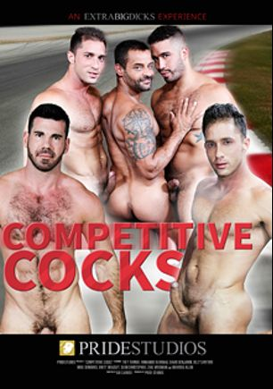 Competitive Cocks, starring David Benjamin, Armando De Armas, Billy Santoro, Trey Turner, Mike De Marco, Brayden Allen, Zeke Weidman, Brett Bradley and Sean Christopher, produced by Pride Studios and Extra Big Dicks.