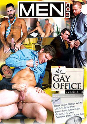The Gay Office 3, starring Christopher Daniels, Parker London, Leo Forte, Boston Miles, Damien Stone, Cavin Knight, Phenix Saint, Bo Dean, Lex Sabre and Derrick Vinyard, produced by Men.