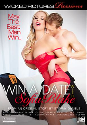 Win A Date With Sofia Blake, starring Olivia Austin, Charlotte O'Ryan, Jake Jace, Bianca Breeze, Ryan McLane, Marcus London, Derrick Pierce and Mia Li, produced by Wicked Pictures.
