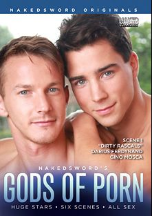 Gods Of Porn Scene 1: Dirty Rascals, starring Gino Mosca and Darius Ferdynand, produced by NakedSword Originals.