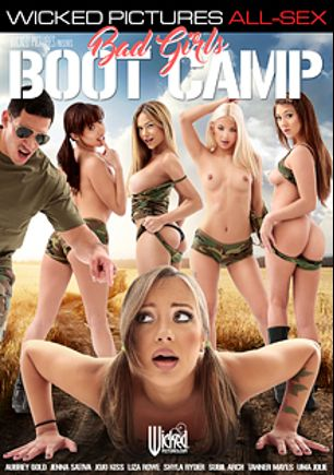 Bad Girls Boot Camp, starring Jojo Kiss, Liza Rowe, Aubrey Gold, Jenna Sativa, Shyla Ryder, Uma Jolie, Subil Arch, Ryan McLane, Ryan Driller, Tanner Mayes, Will Powers and Tony Martinez, produced by Wicked Pictures.