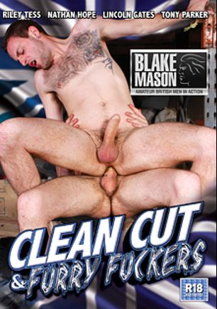Clean Cut And Furry Fuckers, starring Nathan Hope, Casper Ellis, Craig Daniels, Dwayne Adams, Stephan Black, Wolf Rayet, Andro Maas, Darius Ferdynand, Lincoln Gates and Tony Parker, produced by PornPlays and Blake Mason.
