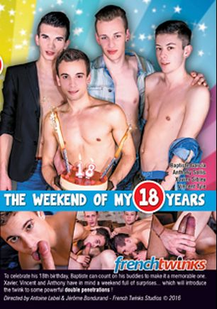 The Weekend Of My 18 Years, starring Vincent Tyle, Yoan Desanges, Jeremy Martin, Anthony Sollis, Baptiste Garcia and Xavier Sibley, produced by French Twinks.