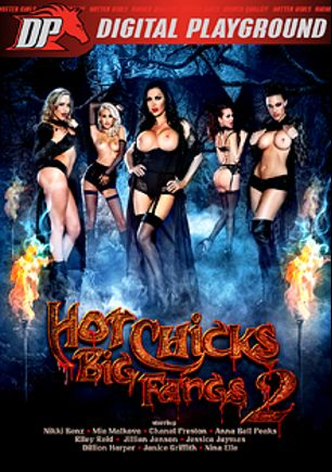 Hot Chicks Big Fangs 2, starring Nikki Benz, Anna Bell Peaks, Janice Griffith, Jillian Janson, Nina Elle, Mia Malkova, Dillion Harper, Riley Reid, Chanel Preston and Jessica Jaymes, produced by Digital Playground.