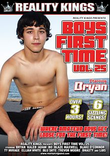 Boys First Time 25, starring Blaze Maxwell, Elijah White, Kaleb Hayes, Blu Skye, Blake O'connor, Trevor Moore, Ty Mirage, Bnasty, Bo, Adam, Bryan and Luis, produced by Boys First Time.