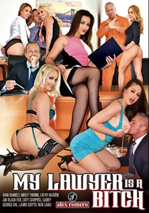My Lawyer Is A Bitch, starring Ani Black Fox, Dani Daniels, Cathy Heaven, Cathy Campbel, Nikky Thorn, Sabby, Lauro Giotto, George Uhl and Nick Lang, produced by Alex Romero.