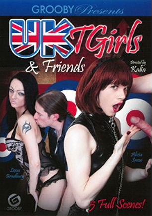 UK TGirls And Friends, starring Red Vex, Minty (o), Lexus Bradbury, Alicia Snow, Alexandra Vexx and Jazmin (o), produced by Third World Media and Grooby Productions.