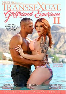 Transsexual Girlfriend Experience 2, starring Aspen Brooks, Isabella Sorrenti, Chelsea Poe and Robert Axel, produced by Devil's Film and Devils Film.