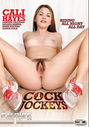 Cock Jockeys, starring Cali Hayes, Alexia Gold, Carmen Callaway, Kiera Winters and Dillion Harper, produced by AMK Empire.