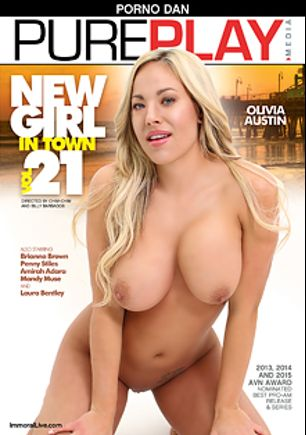 New Girl In Town 21, starring Olivia Austin, Chas Carter, Laura Bentley, Penny Stiles, Brianna Brown, Mandy Muse, Amirah Adara, Porno Dan and Ralph Long, produced by Immoral Productions and Porno Dan Presents.