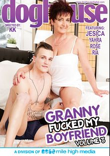 Granny Fucked My Boyfriend 3, starring Jesica, Rose (II), Yahra and Ria, produced by Doghouse Digital and Mile High Media.