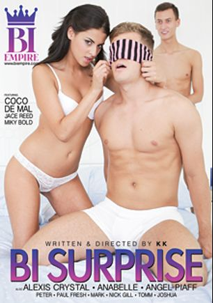 Bi Surprise, starring Coco De Mal, Ana Bell Evans, Miky Bold, Jace Reed, Alexis Crystal, Angel Piaff, Paul Fresh and Nick Gill, produced by Mile High Media and Bi Empire.