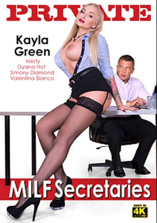 MILF Secretaries, starring Kayla Green, Dyana Hot, Valentina Bianco, Nesty and Simony Diamond, produced by Private Media.