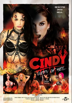 Cindy: Queen Of Hell, starring Joanna Angel, Leigh Raven, Gage Sin, Small Hands, Anna Bell Peaks, Ophelia Rain, Owen Gray, Lily Lane, Nikki Hearts, Xander Corvus, Chad Alva, Sarah Jessie and Tommy Pistol, produced by Burning Angel.