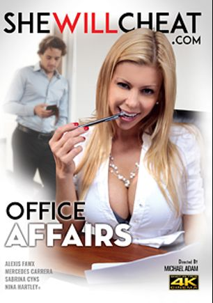 Office Affairs, starring Alexis Fawx, Sabrina Cyns, Mercedes Carrera and Nina Hartley, produced by She Will Cheat.
