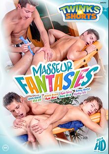 Masseur Fantasies, starring Ennio Guardi, Tommy Hunter, Martin Muse, Ryan Torres, Sam Williams, Shane Hirch, Ryan Olsen and Nick Gill, produced by Twinks In Shorts.