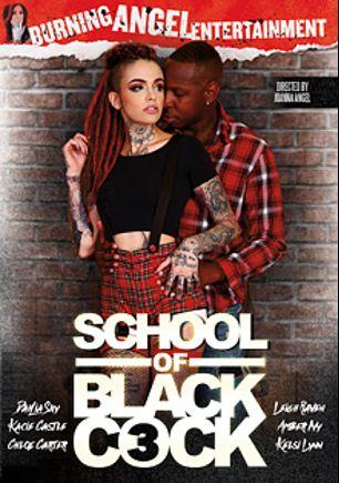 School Of Black Cock 3, starring Leigh Raven, Chloe Carter, Kacie Castle, Kelsi Lynn, Amber Ivy, Dahlia Sky, Jack Blaque, Isiah Maxwell, Prince Yahshua and Jon Jon, produced by Burning Angel.