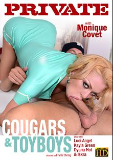 Cougars And Toyboys, starring Monique Covet, Elen Million, Luci Angel, Dyana Hot and Kayla Green, produced by Private Media.