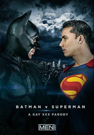 Batman Vs Superman: A Gay XXX Parody, starring Trenton Ducati, Topher DiMaggio, Massimo Piano, Allen King, Dario Beck, Paddy O'Brian and Damien Crosse, produced by Men.