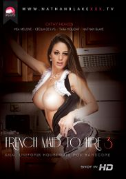 """Featured Category - Black Dicks / White Chicks presents the adult entertainment movie """"French Maid To Hire 3""""."""