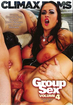 Group Sex 4, starring Carmella Bing, Gianna Michaels, Candy Manson and Kaylynn, produced by Climax Films.