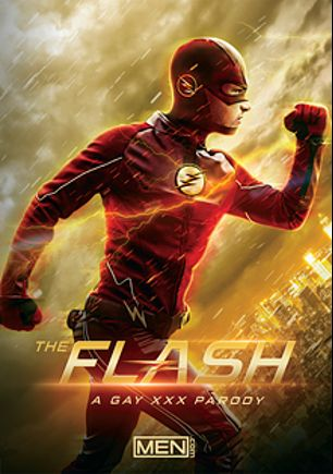The Flash: A Gay XXX Parody, starring Johnny Rapid, Jessy Ares, Gabriel Cross and Pierre Fitch, produced by Men.