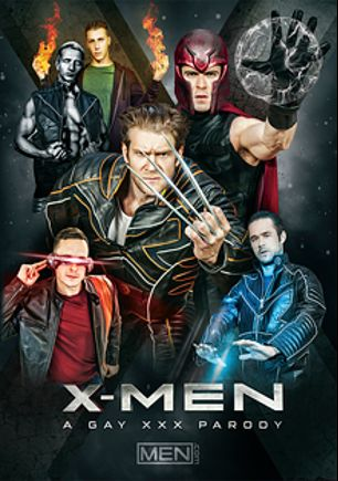 X-Men A Gay XXX Parody, starring Brenner Bolton, Paul Canon, Colby Keller, Paddy O'Brian, Marcus Mojo and Mike De Marco, produced by Men.