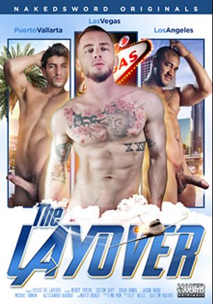 The Layover, starring Mickey Taylor, Brian Bonds, Michael Roman, Mateo Drago, Alessandro Haddad, Colton Grey and Jason Vario, produced by NakedSword Originals.