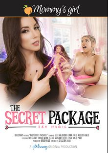 The Secret Package, starring August Ames, Jelena Jensen, Kylie Page, Mindi Mink, Rebel Lynn, Uma Jolie, Tanya Tate and Elexis Monroe, produced by Girlsway and Mommys Girl.