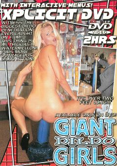"Adult entertainment movie ""Giant Dildo Girls"". Produced by Caballero Video."