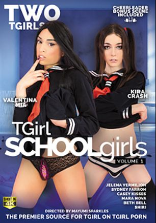 TGirl Schoolgirls, starring Valentina Mia, Kira Krash, Jelena Vermilion, Sydney Farron, Shiri Trap, Casey Kisses, Beth Bell and Mara Nova, produced by Two TGirls.
