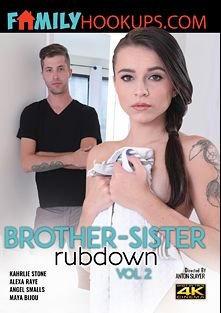 Brother-Sister Rubdown 2, starring Kharlie Stone, Maya Bijou, Angel Smalls and Alexa Rae, produced by Family Hookups.